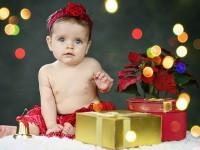Vianocna detska fotografia