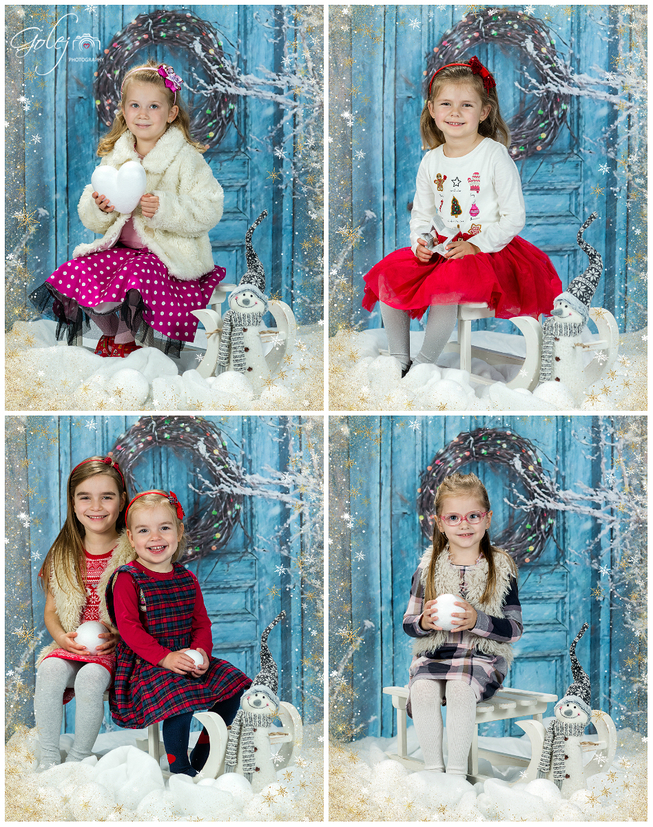Detské vianočné fotenie
