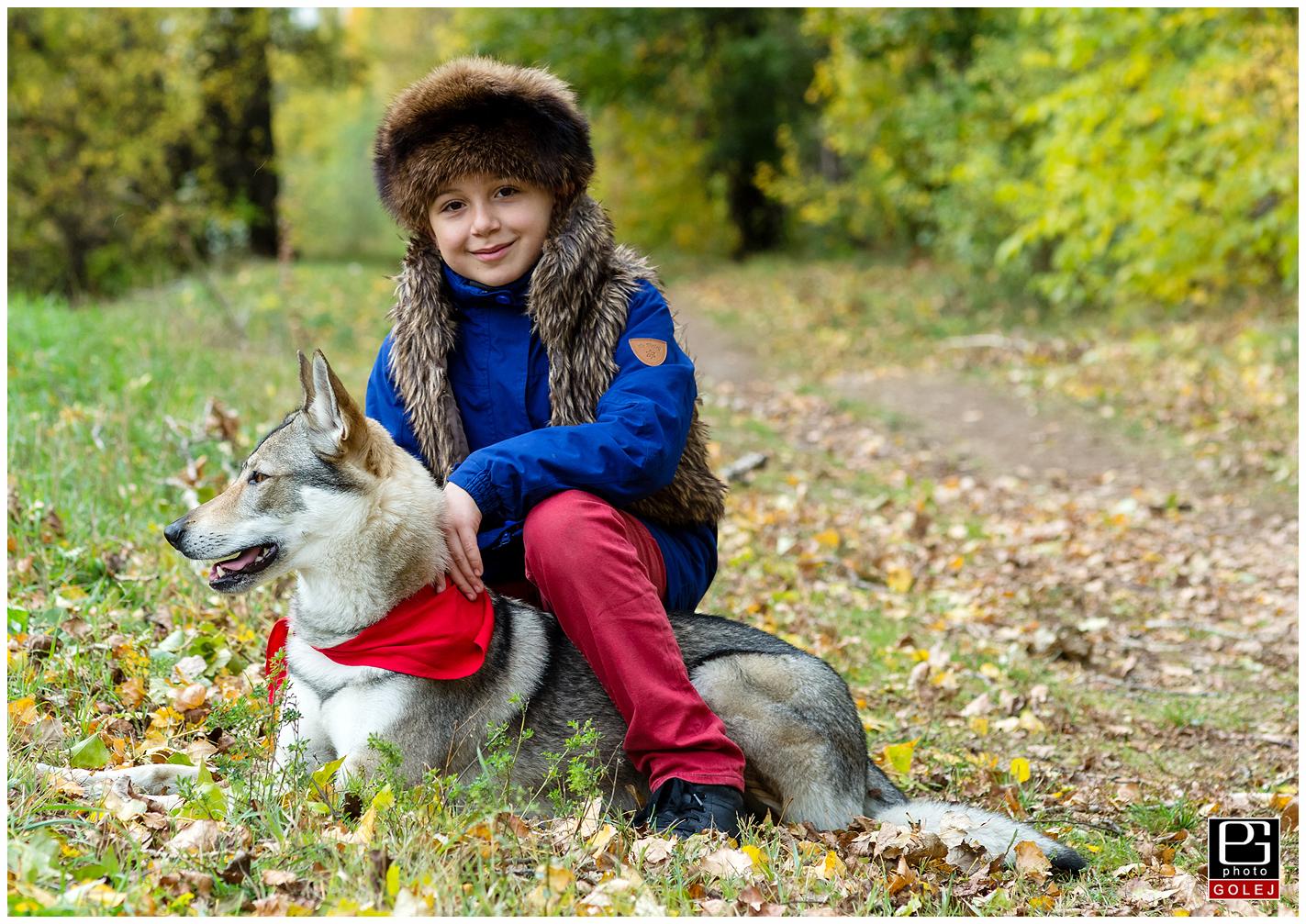 Fotenies s vlkom