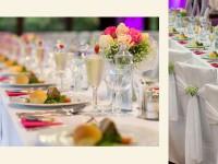 Slávnostné svadobné prestieranie