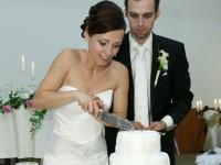 Krajanie torty na svadbe