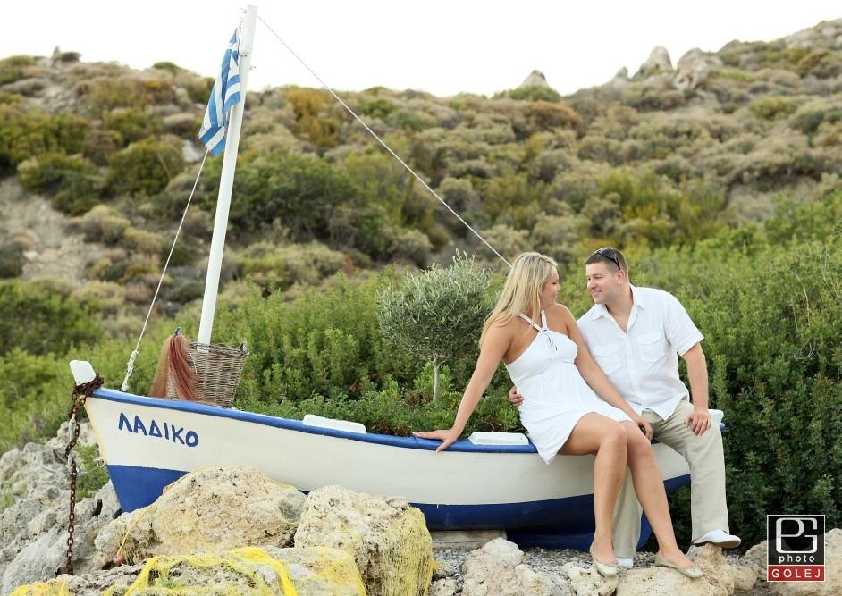 Snubenecke fotografie v Grecku