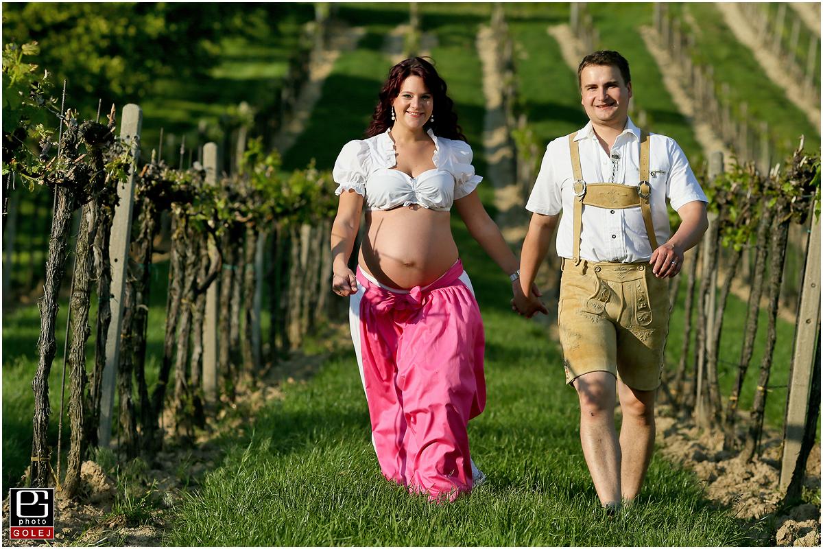 Lenka a Michal vo vinohrade