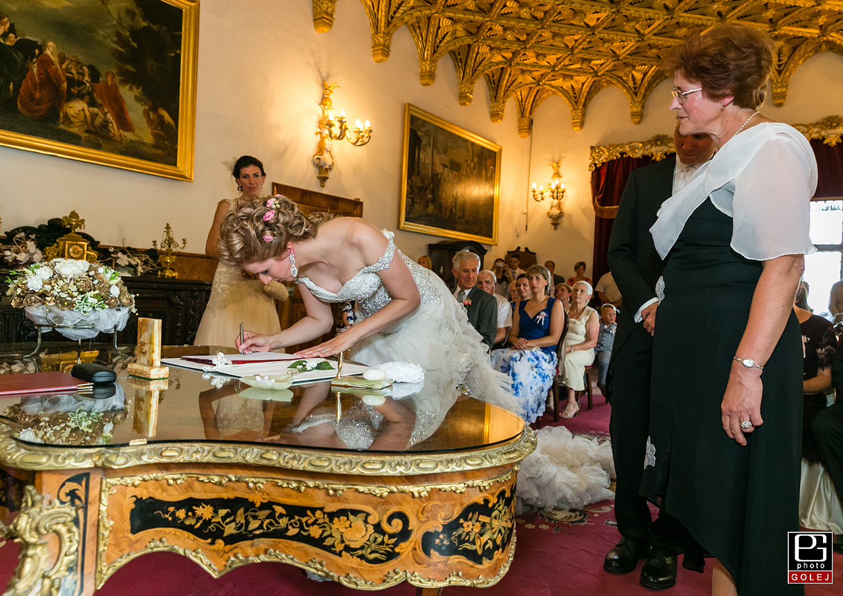Fotografovanie svadobneho obradu Zlata sala Bojnice