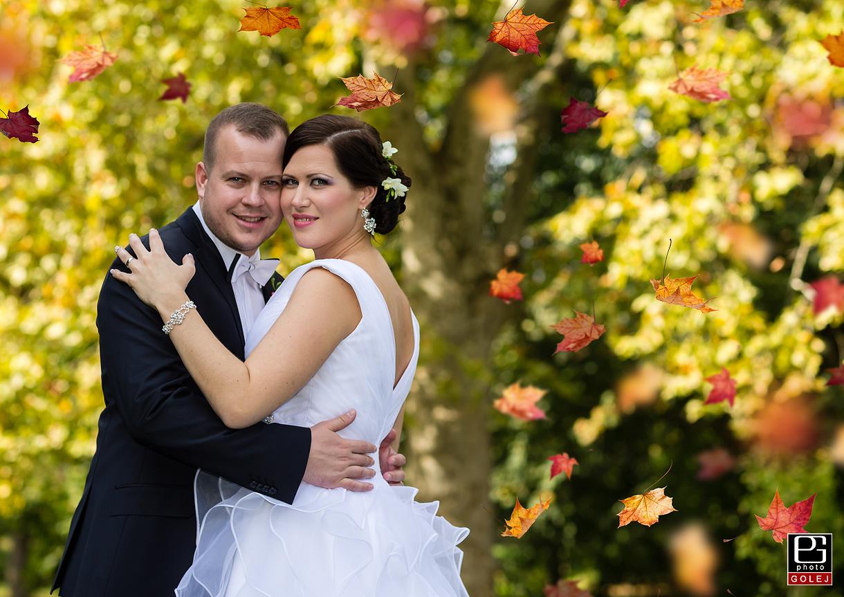 Jesenne svadobne fotenie
