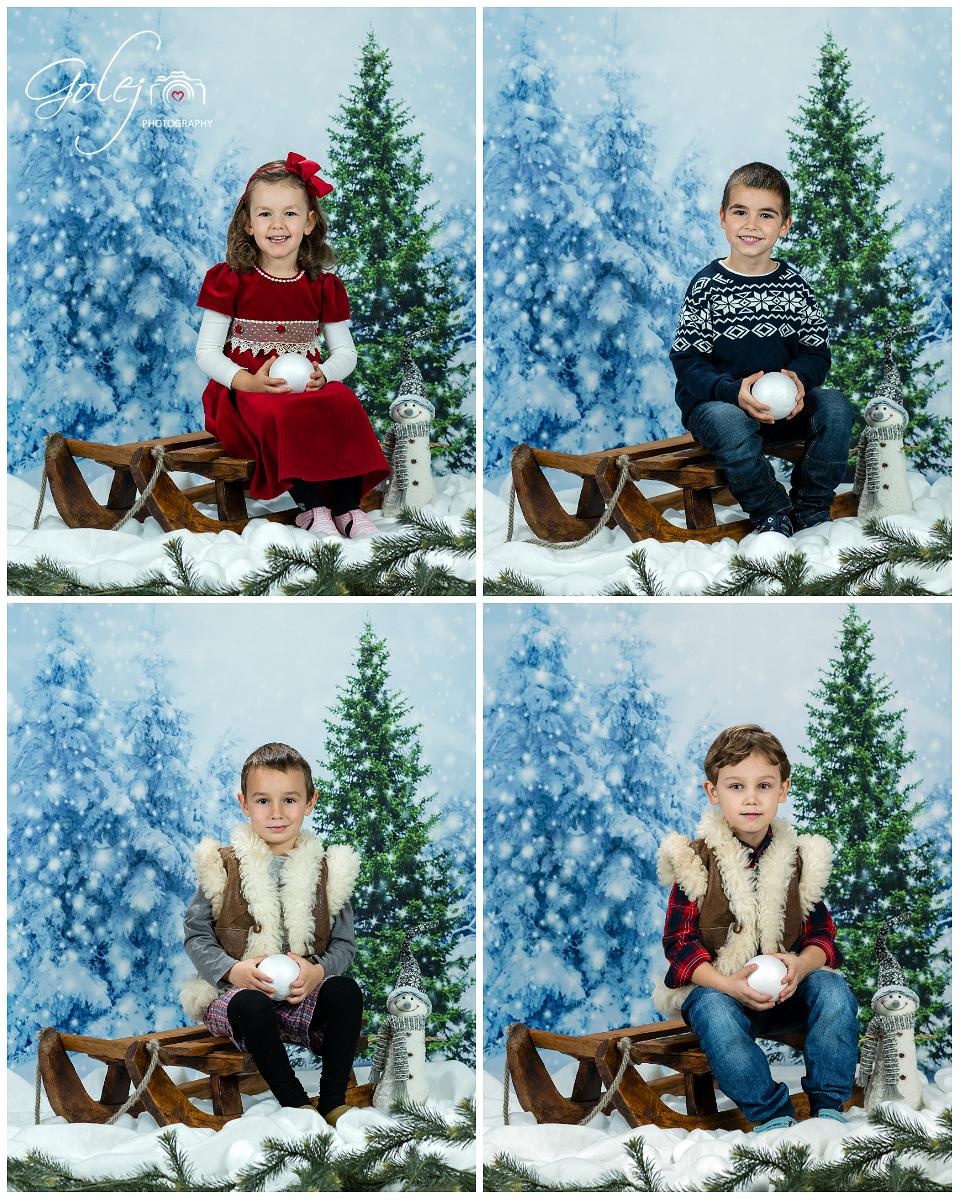 Školkárske vianočné fotenie