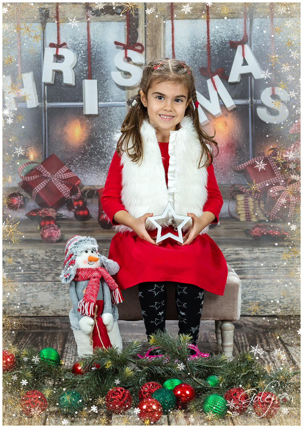 Vianočné fotenie detičiek