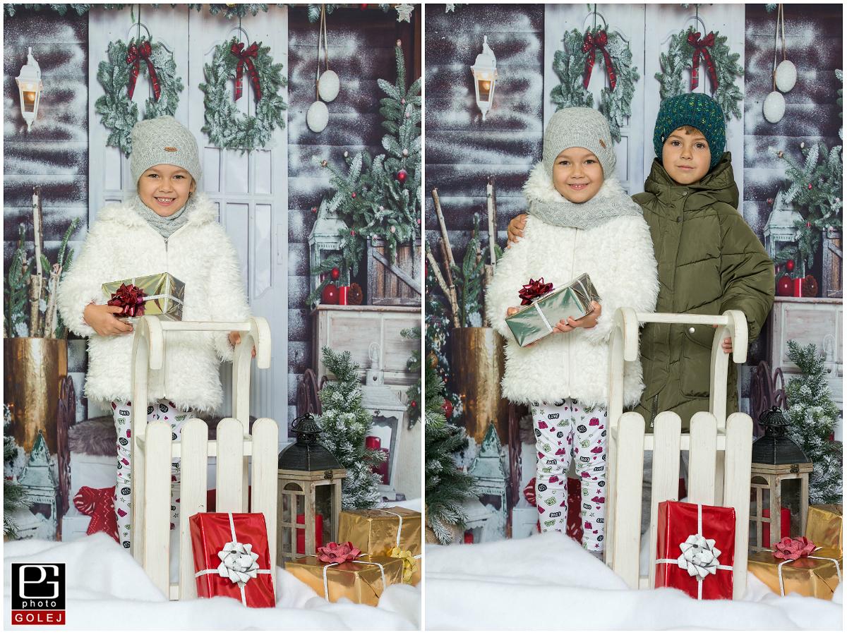 Ako obliect deti na vianocne fotenie